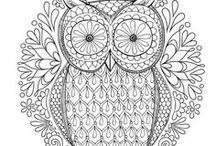 Adult Coloring / Distract your subconscious with coloring
