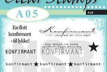 Clearstamps - A05 Konfirmant / En stempelplate med fine tekster til konfirmasjonskortene.
