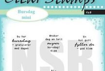 Clearstamps - Bursdag mini