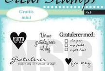 Clearstamps - Grattis mini