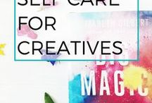 Self care for writers / Self care for anxiety, depression, productivity. Mindfulness and inspiration. For authors, creatives, human types.
