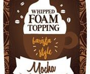 Whipped Foam Toppings / Skinny Whipped Foam Toppings- 0 Calories & 0 Sugar. Now you can add a perfect foam finish and burst of flavor to your favorite coffees, hot chocolates, cappuccinos, espressos or frappes without a trip to the coffee shop.Simply pump Jordan's Whipped Foam Toppings onto your favorite hot beverage to enjoy countless barista style creations without the fuss.