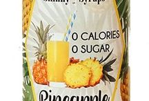 Skinny Syrups Fruit Collection / Skinny Syrups- 0 Calories & 0 Sugar Gourmet Syrup. Add a burst of guilt free flavor to smoothies, flavored water, teas, lemonades and dessert drinks.