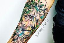 Avan-gart Tattoo Style / Trabalhos originais de Susboom Tattoo //  www.susboom.com