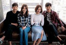 Descendants of the sun  / • Song joong ki ( Big Boss / Yoo Shi Jin ) • Song hye kyo ( beauty / Dr. kang Mo Yeon )  • Kim ji won ( yoon myeong joo ) • jin goo ( seo dae young )