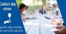 Calici e bicchieri / Per degustare un qualsiasi vino è essenziale scegliere il giusto bicchiere che, in base alla sua forma ed alla sua dimensione, possa valorizzarne al meglio le caratteristiche organolettiche e la peculiarità degli aromi. Con questa guida imparerai a capire quale servizio di calici vino fa al caso tuo!