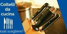Coltelli / Uno degli strumenti a cui un appassionato di cucina non può rinunciare è senza dubbio il set di coltelli da cucina. È possibile scegliere un set base già composto, ma chi ha dimestichezza e una certa conoscenza sicuramente creerà da solo il proprio set, soprattutto per far fronte ad ogni esigenza culinaria. Le soluzioni disponibili sul mercato sono svariate, ma abbiamo pensato di guidarvi nella scelta riassumendo alcune nozioni base che potranno tornarvi utili durante l'acquisto.