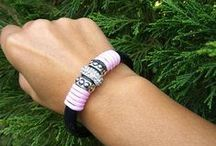 Leather bracelets by Eufforia / Handmade licorice bracelets inspired in boho, boho chic and hippie styles.