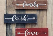 DIY Signs / DYI sign ideas for home decor | Cricut Signs | VInyl Signs