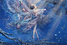 Josephine Wall art / I love Josephine's paintings very much, they are so colorful!