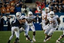 Texas Football at BYU [Sept. 7, 2013] / QB David Ash throws for 251 yards (19-of-34) and RB Jonathan Gray rushes for 90 yards on 13 carries, but the Longhorns surrender 550 rushing yards to BYU in a 40-21 loss in Provo. / by Texas Longhorns