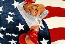 "Greg Hildebrandt signed prints / We are proud to present special edition fine art prints from Greg Hildebrandt's classic pin-up series American Beauties. Each artwork has been given a vintage theme and ""aged"". These prints are highly collectible and exclusive to The Pin-up Files! Each print comes with a Certificate of Authenticity affixed to the back, signed by Greg Hildebrandt. / by The Pin-up Files"
