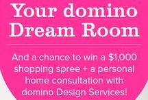 my domino dream room / Pin to Win Your domino Dream Home for a chance to win a $1,000 shopping spree!