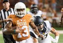 Texas Football vs. California [Sept. 19, 2015] / Despite a single-game total offense school record of 527 yards from redshirt freshman quarterback Jerrod Heard, a furious fourth-quarter Texas rally comes up just short as the Longhorns fall to California, 45-44, at Darrell K Royal-Texas Memorial Stadium.