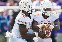 Texas Football at TCU [Oct. 3, 2015] / No. 4/3 TCU (5-0, 2-0 Big 12) posts a 50-7 win over Texas (1-4, 0-2 Big 12) on Saturday, Oct. 3, 2015 at Amon G. Carter Stadium in Fort Worth. Texas sophomore RB D'Onta Foreman posts career highs in both rushing yards (112) and attempts (18).