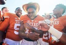 Texas Football vs. Oklahoma (Dallas) [Oct. 10, 2015] / Texas Football (2-4, 1-2 Big 12) rushes for a season-best 313 yards and its defense posts a season-high six sacks to go along with eight tackles for loss as the Longhorns hand No. 10/9 Oklahoma (4-1, 1-1 Big 12) its first loss of the season at the annual AT&T Red River Showdown, 24-17.
