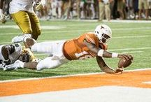 Texas Football vs. Notre Dame [Sept. 4, 2016] / A six-yard rushing touchdown by QB Tyrone Swoopes in the second overtime gave Texas a 50-47 win over No. 10 Notre Dame in front of a record-setting home crowd on Sunday, Sept. 4, 2016 at Darrell K Royal-Texas Memorial Stadium.