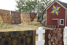 Barns. Quilts. Barn Quilts. / Barn architecture, Painted Barn Quilts, and REAL quilts and patterns.