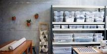 Studio Inspiration / Inspiration for how to keep my studio space organized and efficient. Also a place to keep notes about different methods of screen printing.