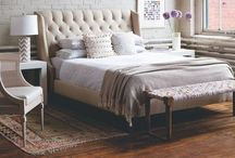 home inspiration: master bedroom / master mix  {eclectic+modern+white+neutral+pops of color}
