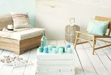 Living Room / Ocean theme and color scheme. / by Brittany Pugh