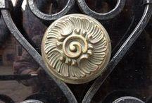 Door Knobs and Knockers / I always look for lovely door knobs when I travel!  These are a collection of door knobs and knockers I have found on my trips.