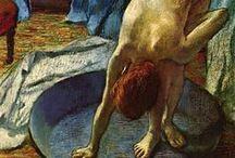 Lautrec, Degas, Renoir, women portraits