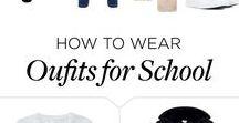 """looks escola ❤ / Quem não acha que um look para a escola ou para a faculdade deve ser confortável mas também bastante fashionista❤ Com uma peça básica e bastante acessórios maravilhosos e super fofinhos dá um toque """"Txaraaa"""" no look"""