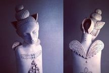 certamics sculpture - My Work / a selection of my ceramic art... figurative and functional / by Blossom Young