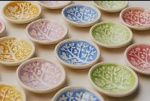 1 Ceramic Wedding Favors & Ring Dishes / by Elke Hutchens