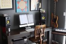 b's music-making space / dump ideas about converting a small space into a music studio...