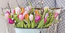 Spring Tablescapes / Spring ideas to brighten up your table. Flowers, craft and DIY for easy at home settings.