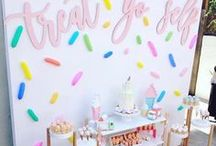 Sweet Candy Party Stations / Sweets and candy, everyone feels like a kid if there are sweet treats around. crafty ideas, DIY party stands.