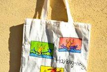 Shopper / Shopper Siciliane! Colorate, armoniose e ironiche con gli elementi della splendida Sicilia bedda!