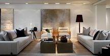 Soggiorno Moderno / Idee soggiorno moderno // Design, arredamenti, pavimenti, illuminazione, colori e altro