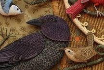 By Hand & Heart / ~*Beautiful Handwork*~ *Embroidery* Ribbon Work*Crochet* Hand Stitched* / by Jill Marcott-McCall ~* Feathers & Flight*~