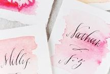Place Cards & Escort Cards / Place Card, Escort Card, and Seating Chart Ideas for Parties and Weddings / by Oh So Beautiful Paper