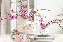 Center pieces and table settings (dining room)