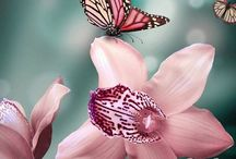 Butterflies, dragonflies and ladybugs