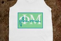 Phi Mu T-shirts / by Alex Stone