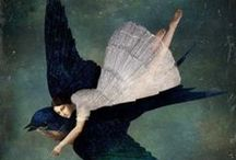 Art ~ Whimsy / Art  I Love  Modern and Whimsical / by Jill Marcott-McCall ~* Feathers & Flight*~