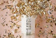 Metallic / Shiny Metallic and Foil Stamped Wedding Invitations and Paper Goods / by Oh So Beautiful Paper