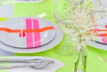 Neon / Bright Neon Wedding Invitations and Paper Goods / by Oh So Beautiful Paper