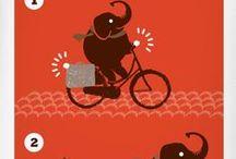 Elefantes en bici