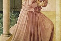 "Fra Angelico (c.1395 - 1455) / Fra Angelico (born Guido di Pietro; c. 1395 – February 18, 1455) was an Early Italian Renaissance painter described by Vasari in his Lives of the Artists as having ""a rare and perfect talent"".  He was known to contemporaries as Fra Giovanni da Fiesole (Brother John of Fiesole) and Fra Giovanni Angelico (Angelic Brother John). In modern Italian he is called il Beato Angelico (Blessed Angelic One); the common English name Fra Angelico means the ""Angelic friar""."