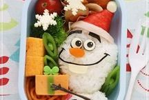 Winter & Christmas Bento / A lunchtime celebration of all things winter & Christmas, featuring winter & Xmas themed bento boxes, onigiri/rice balls, lunch ideas, recipes, and more!