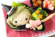 Fall & Halloween Bento / A celebration of all things autumn, with fall and Halloween themed bento boxes, onigiri/rice balls, lunch ideas, and recipes.