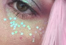 •pretty; cosmetics• / pastel makeup, baddie makeup, and cute af nails