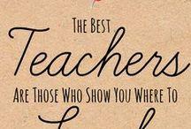 A Teacher and a Classroom.