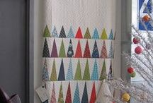 Modern Christmas Quilt / Christmas quilt inspiration / by Yellow Bug Quilts